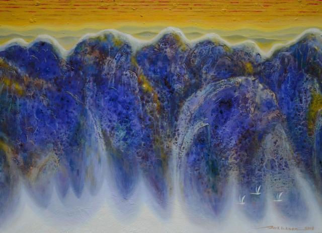 박인관, 이미지-새하늘과 새땅 018-7,  100 x 72.5cm.jpg